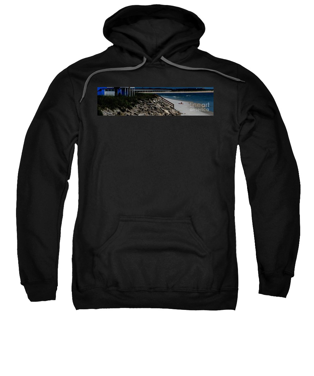Beach Front Sweatshirt featuring the photograph Caribbean Colors by Greg Patzer