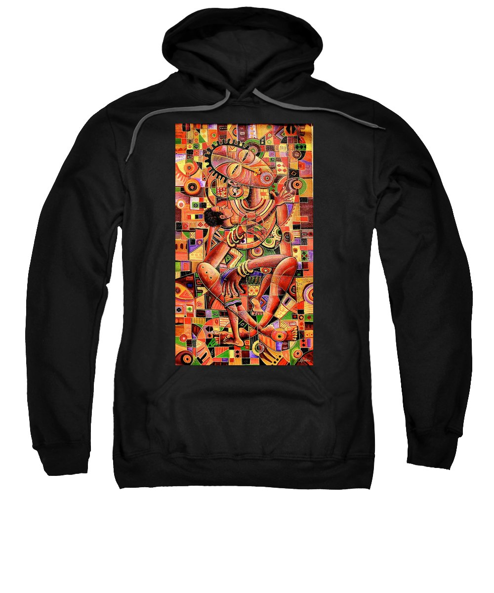 Angu Walters Sweatshirt featuring the painting Caring by Angu Walters