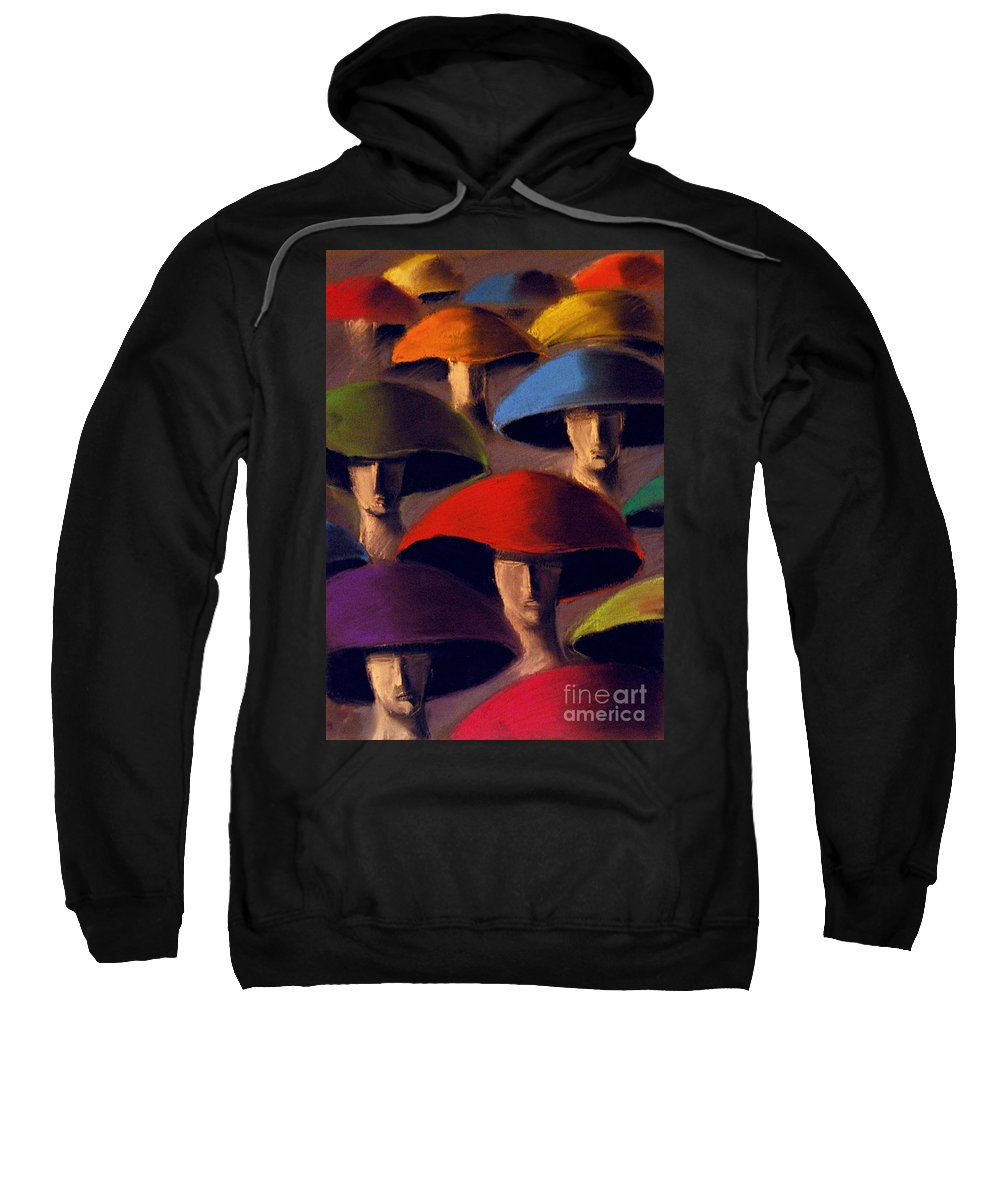 Carnaval Sweatshirt featuring the painting Carnaval by Mona Edulesco