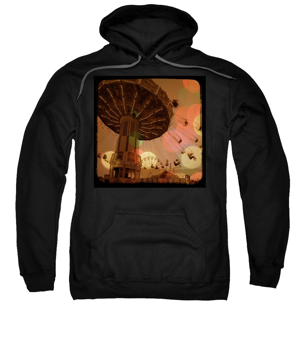 Carnival Sweatshirt featuring the photograph Carnival Circles Go Round by Gothicrow Images