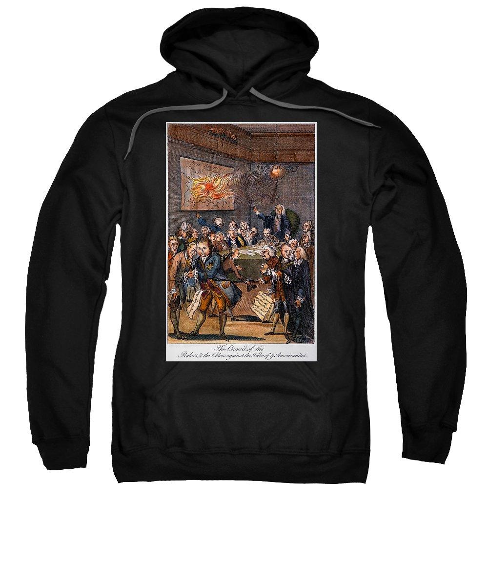 1770s Sweatshirt featuring the photograph Cartoon: Politicians by Granger
