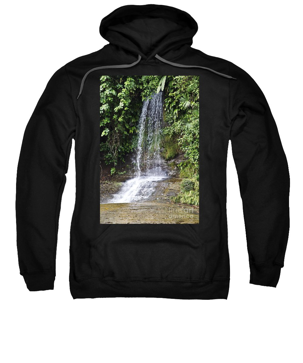 Waterfalls Sweatshirt featuring the photograph Cascada Pequena by Kathy McClure