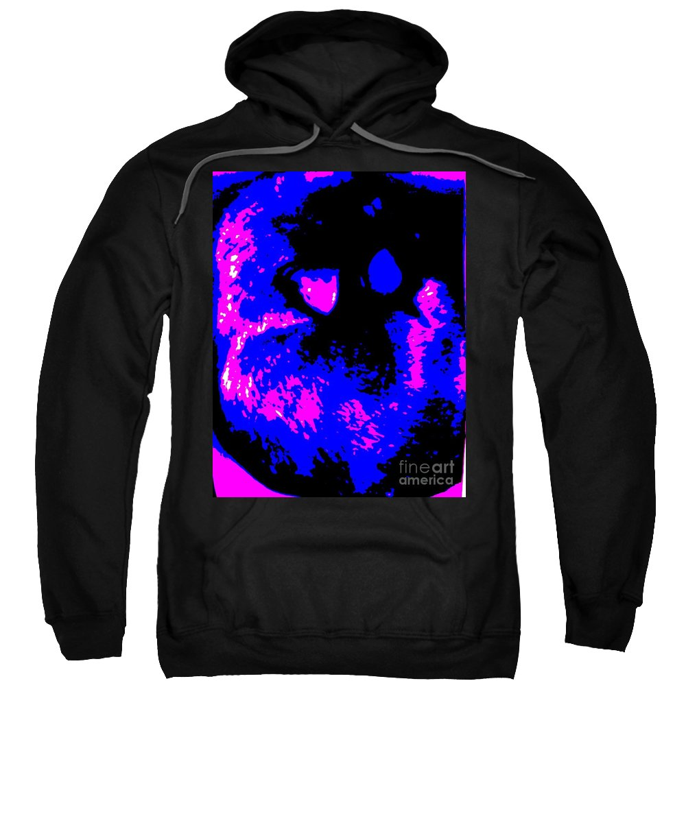 Blue Sweatshirt featuring the photograph Cat Abstract by Eric Schiabor