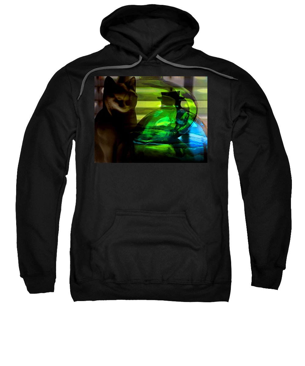 Cat Sweatshirt featuring the photograph Cat Tonic by Stephen Anderson