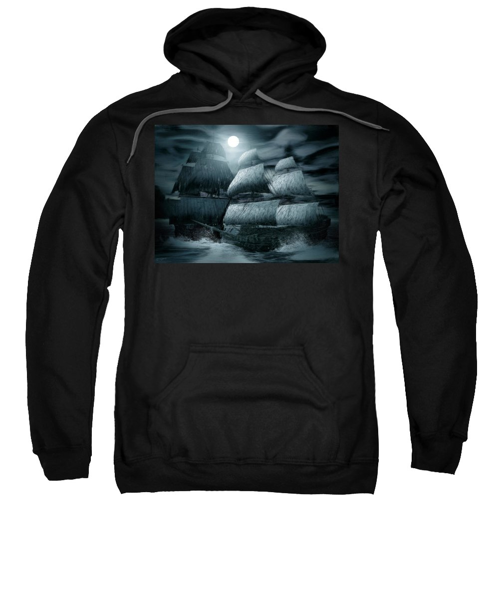Ghostship Sweatshirt featuring the photograph Catastrophic Collision by Lourry Legarde