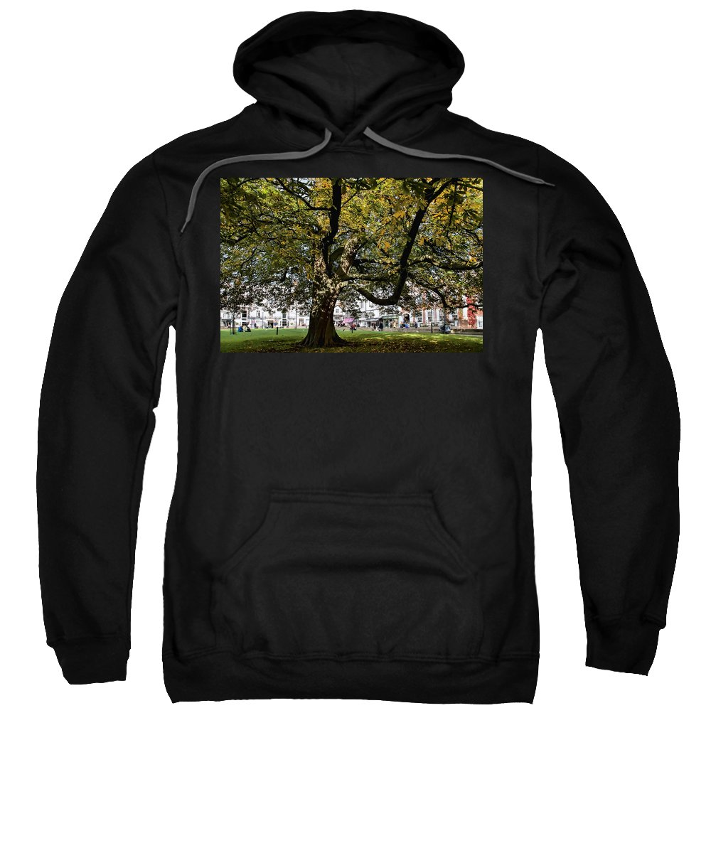 Exeter Sweatshirt featuring the photograph Cathedral Square - Exeter by Susie Peek