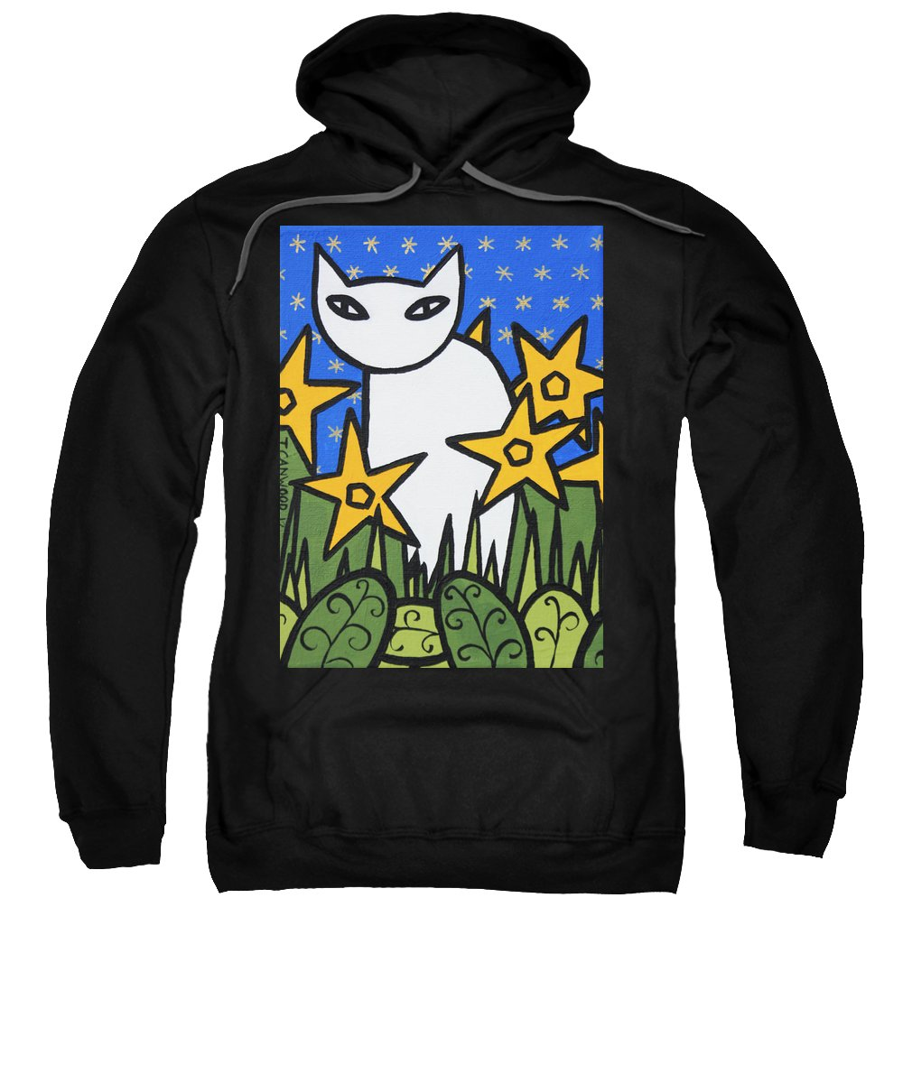 Animals Sweatshirt featuring the painting Cats 2 by Trudie Canwood