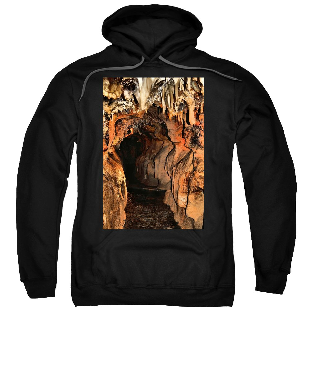 Caverns Sweatshirt featuring the photograph Cavern Water by Dan Sproul