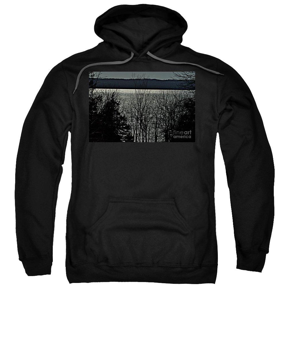 Finger Lakes Sweatshirt featuring the photograph Cayuga Lake by Joseph Yarbrough