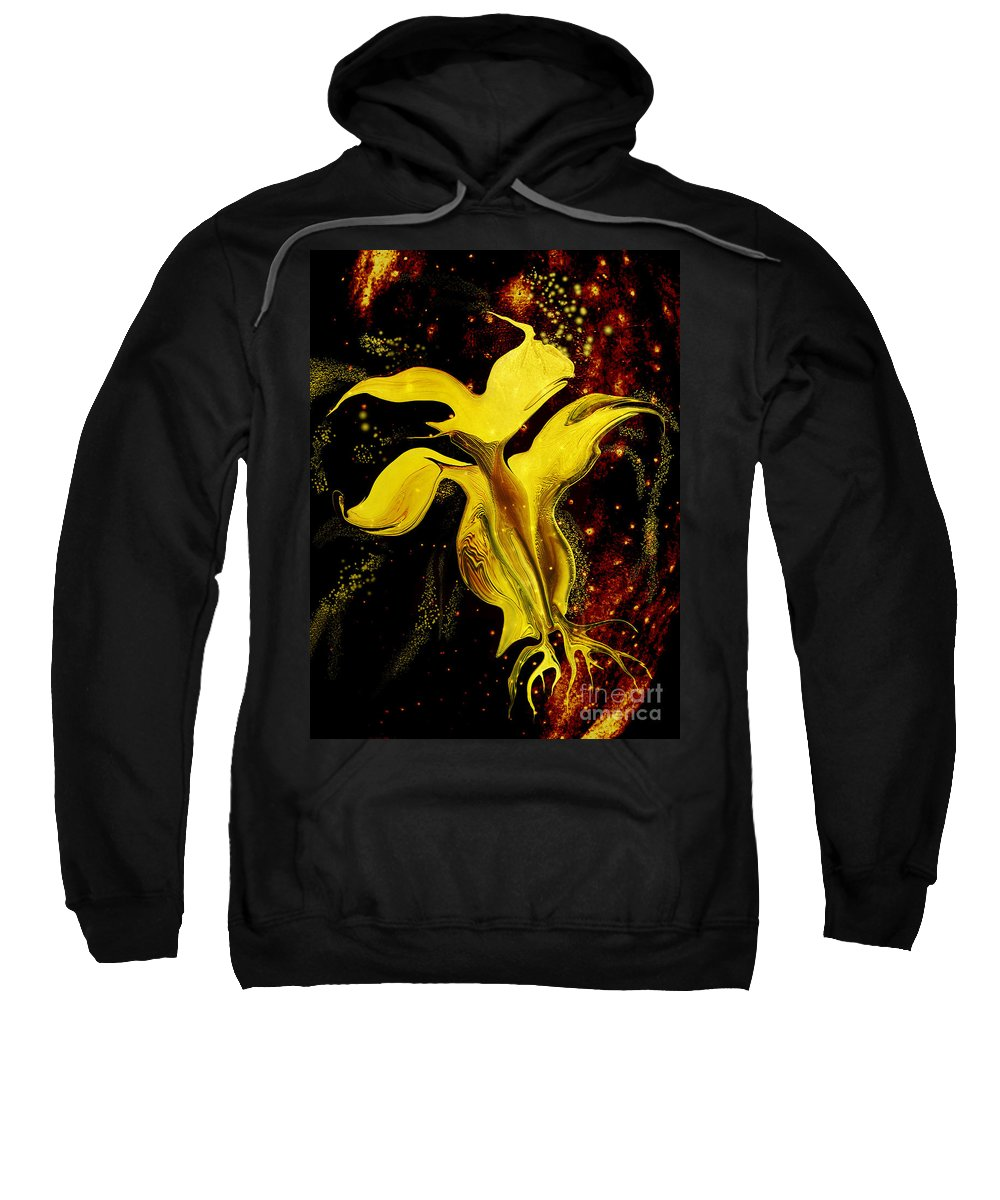Space Sweatshirt featuring the photograph Celestial Flower by Bruce Bain