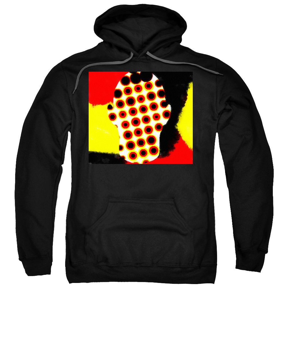 Cell Electrodes Sweatshirt featuring the digital art Cell Electrodes by Pharris Art