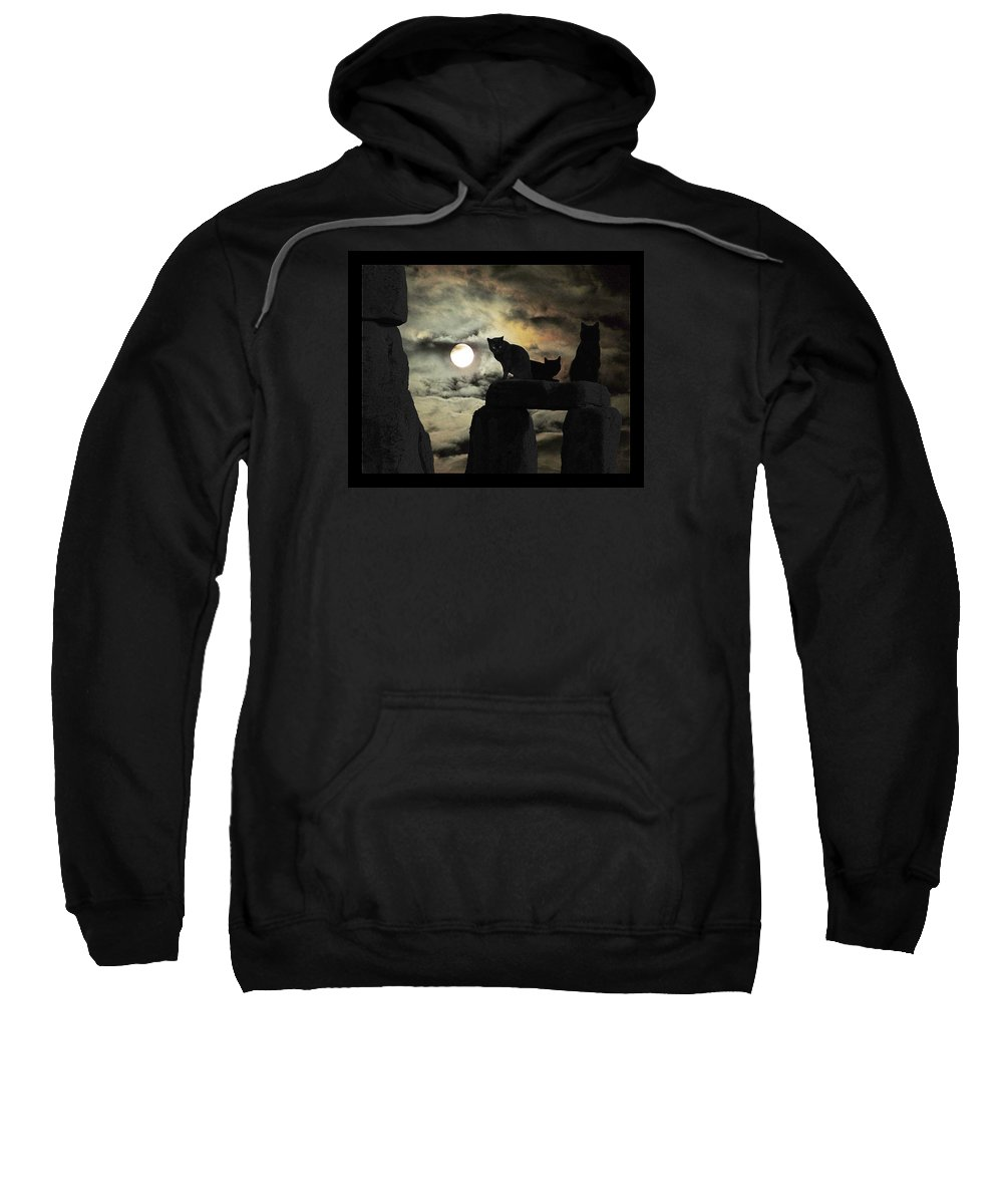 Celtic Nights Sweatshirt featuring the photograph Celtic Nights Selective Coloring by I'ina Van Lawick