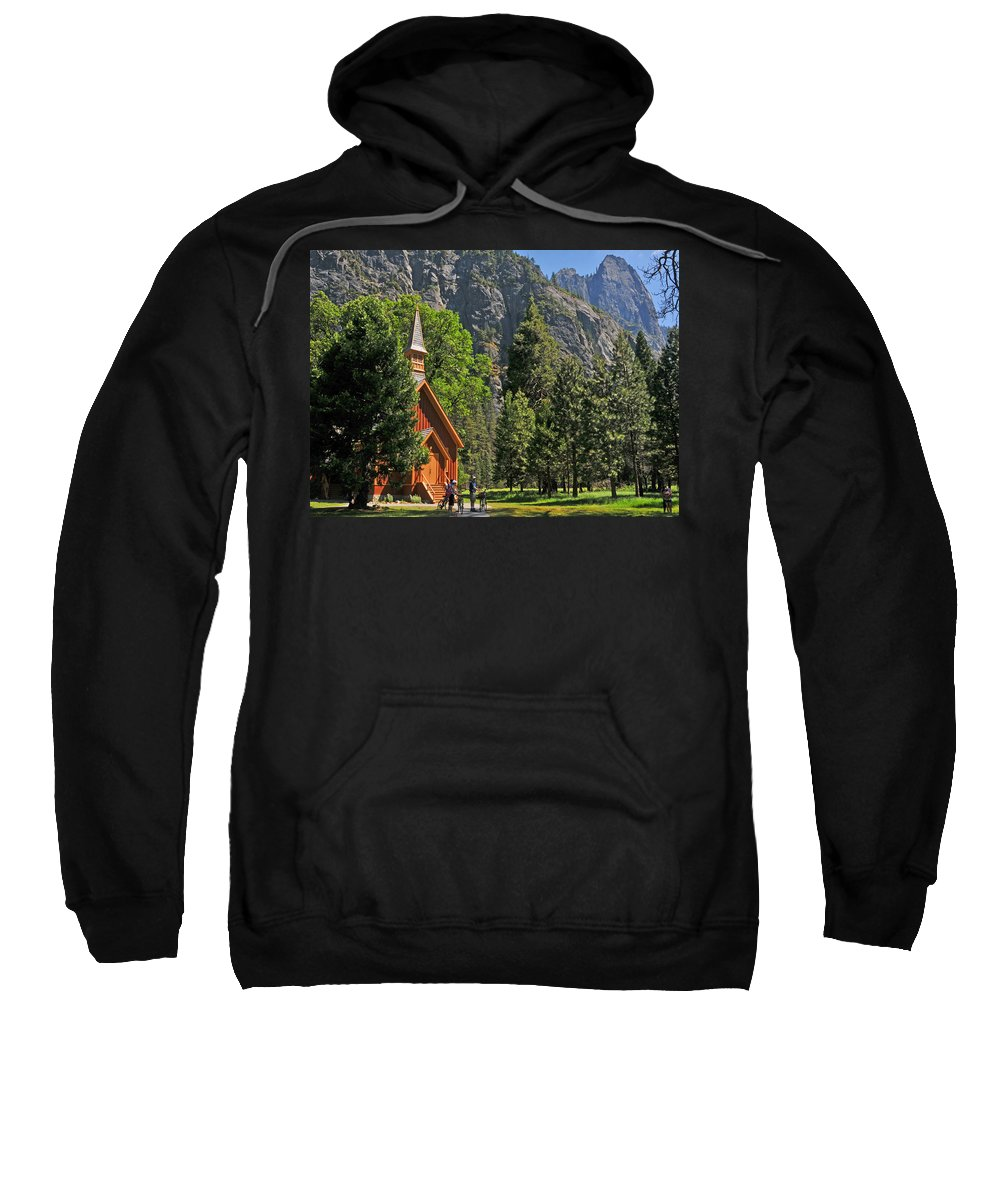 Church Sweatshirt featuring the photograph Chapel In The Valley by Lynn Bauer