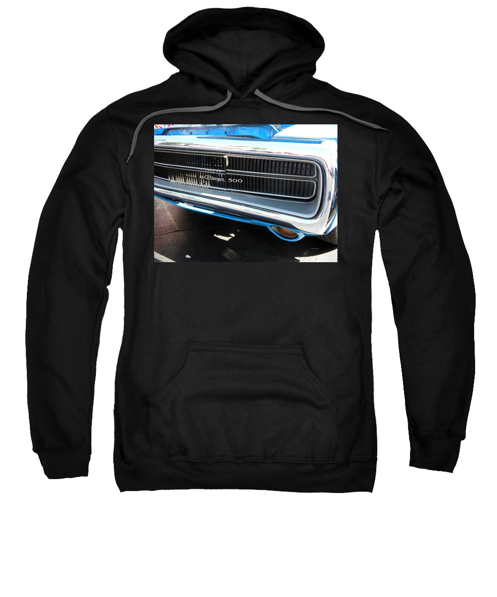Chrysler Sweatshirt featuring the photograph Charger 500 Front Grill And Emblem by Thomas Woolworth