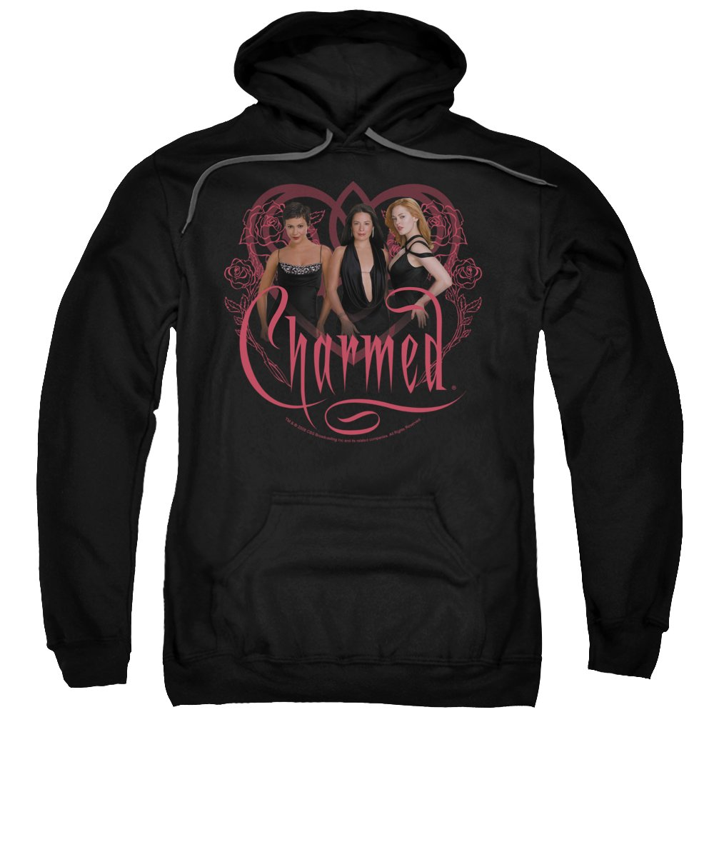 Charmed Sweatshirt featuring the digital art Charmed - Charmed Girls by Brand A