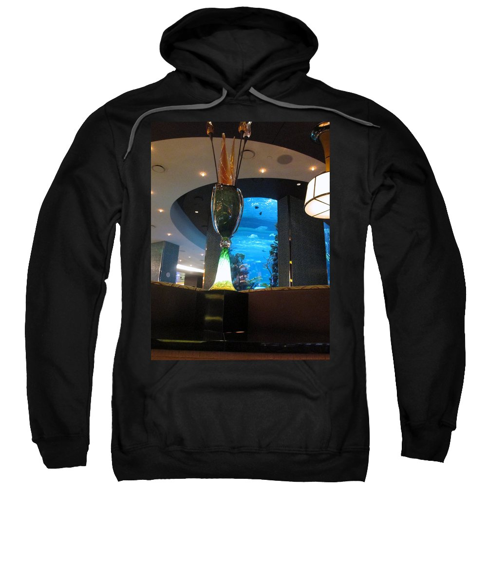 Chart House Restaurant Sweatshirt featuring the photograph Chart House Restaurant Las Vegas by Kay Novy