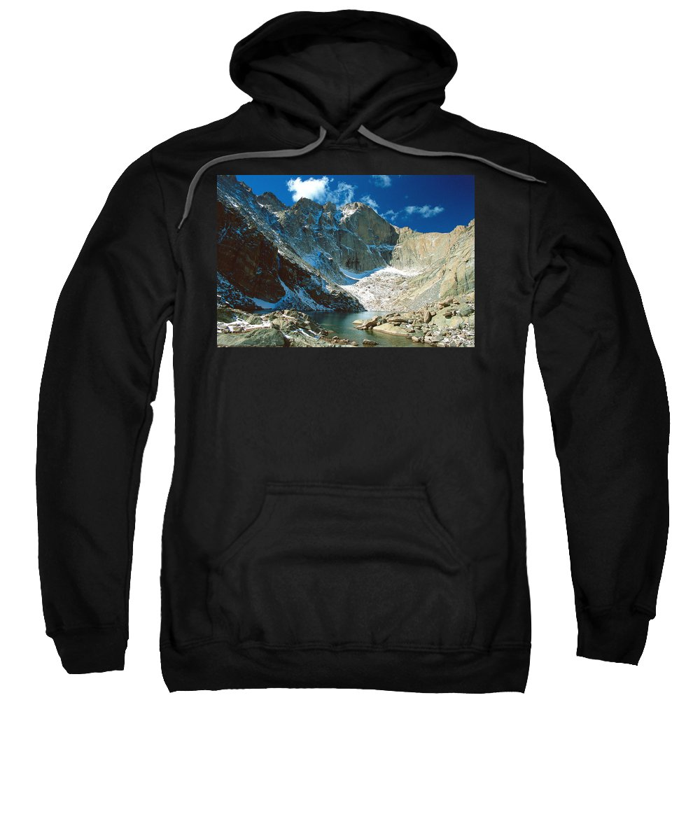 Landscape Sweatshirt featuring the photograph Chasm Lake by Eric Glaser