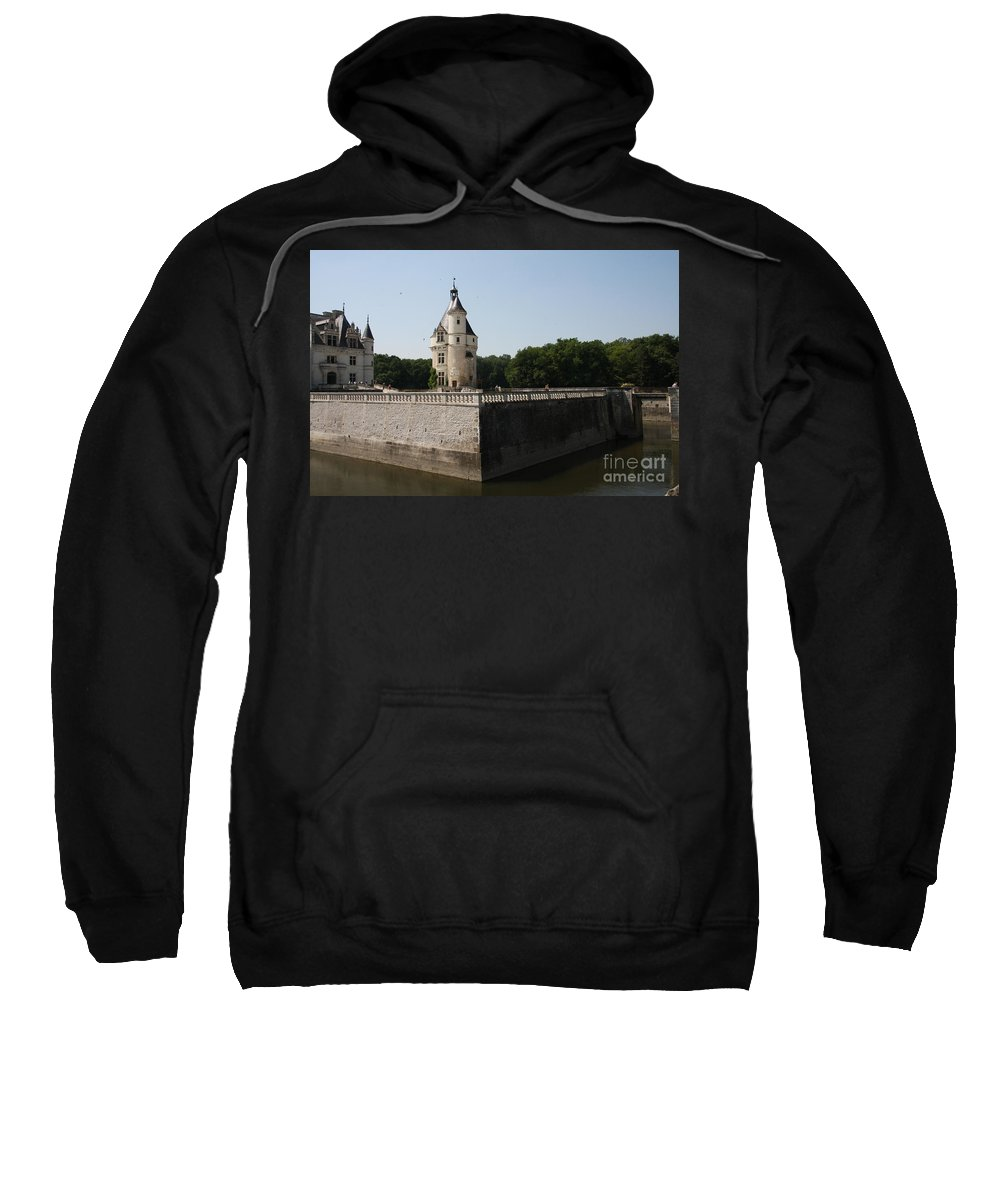 Castle Sweatshirt featuring the photograph Chateau And Moat Chenonceau by Christiane Schulze Art And Photography