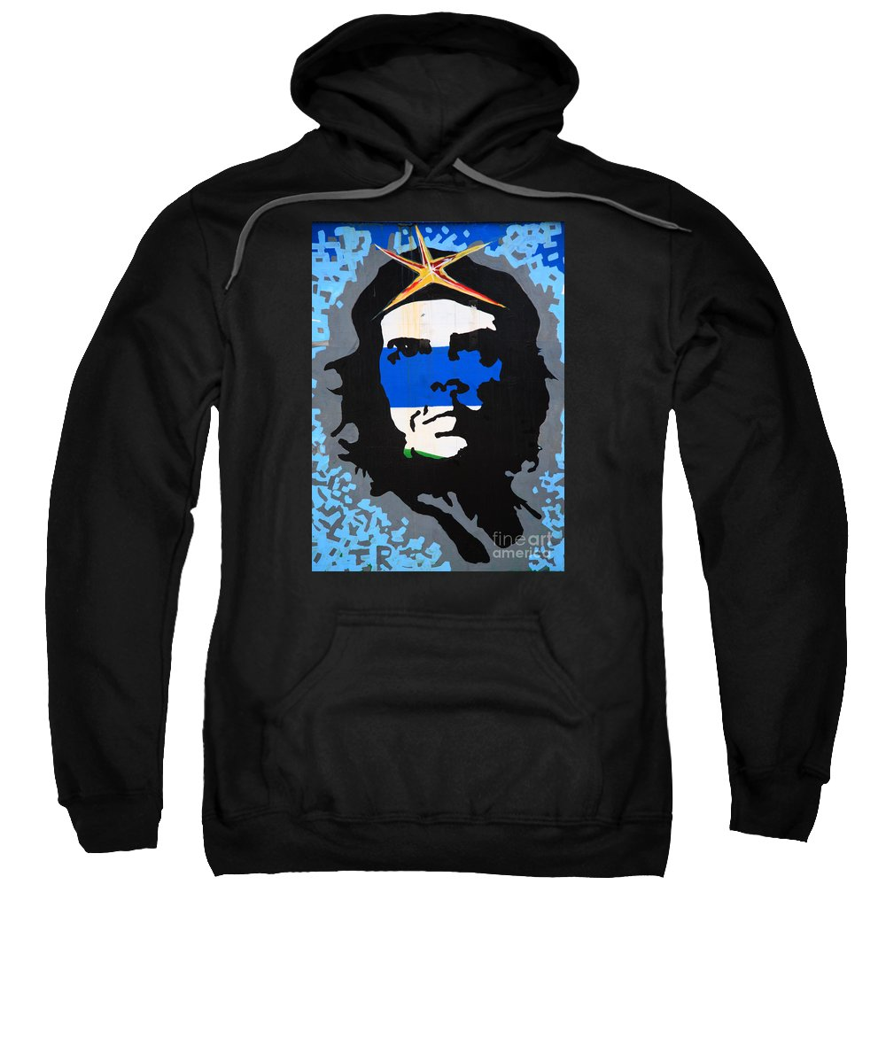 Argentine Sweatshirt featuring the photograph Che Guevara Picture by Deborah Benbrook