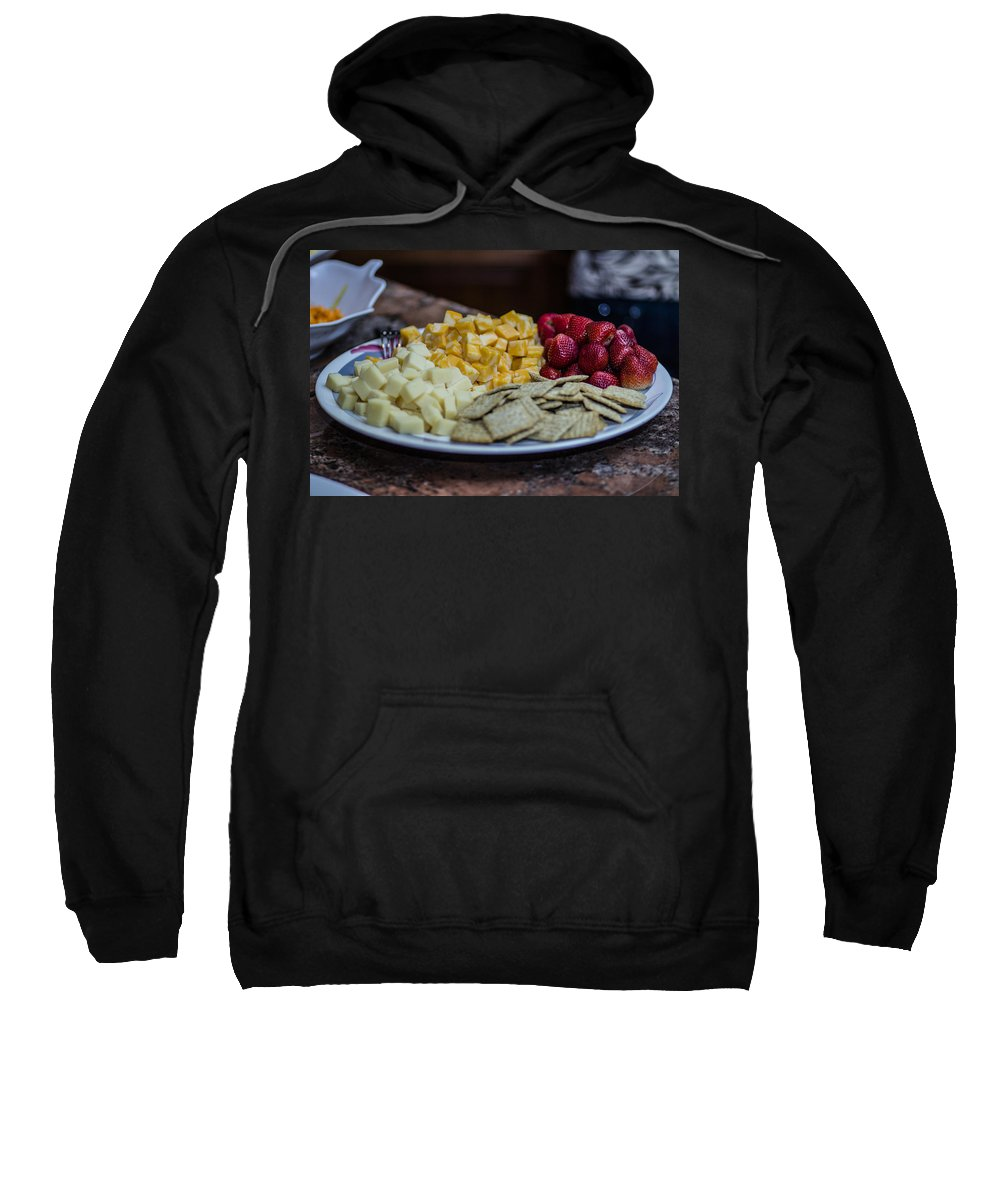 Cheese Sweatshirt featuring the photograph Cheese And Strawberries by Stephen Brown