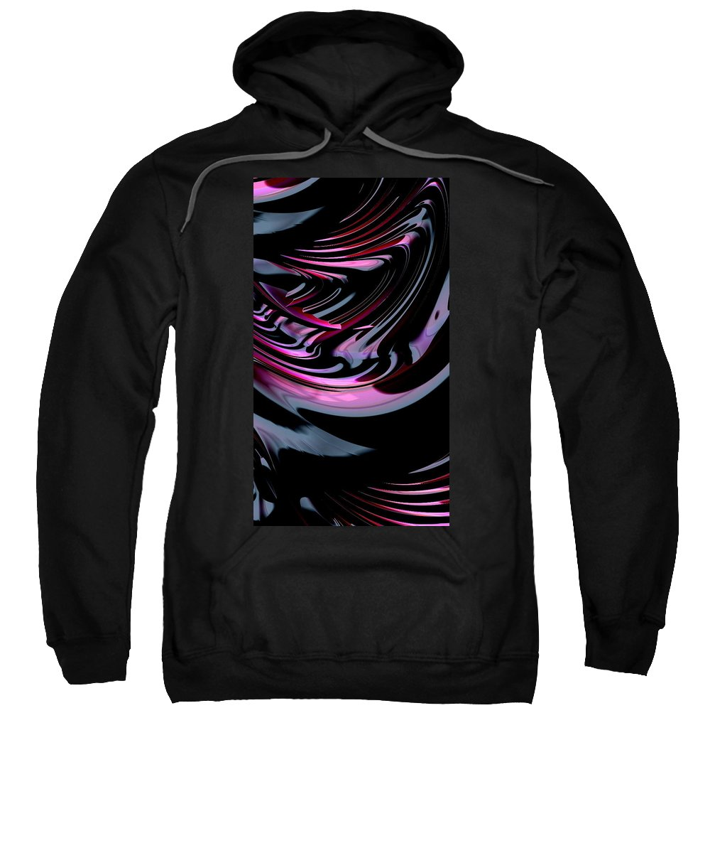 Cola fractal Art abstract Art girl's Fashion women's Fashion Cosmetics fashion Design Fashion Sweatshirt featuring the photograph Cherry Cola by Bill Owen