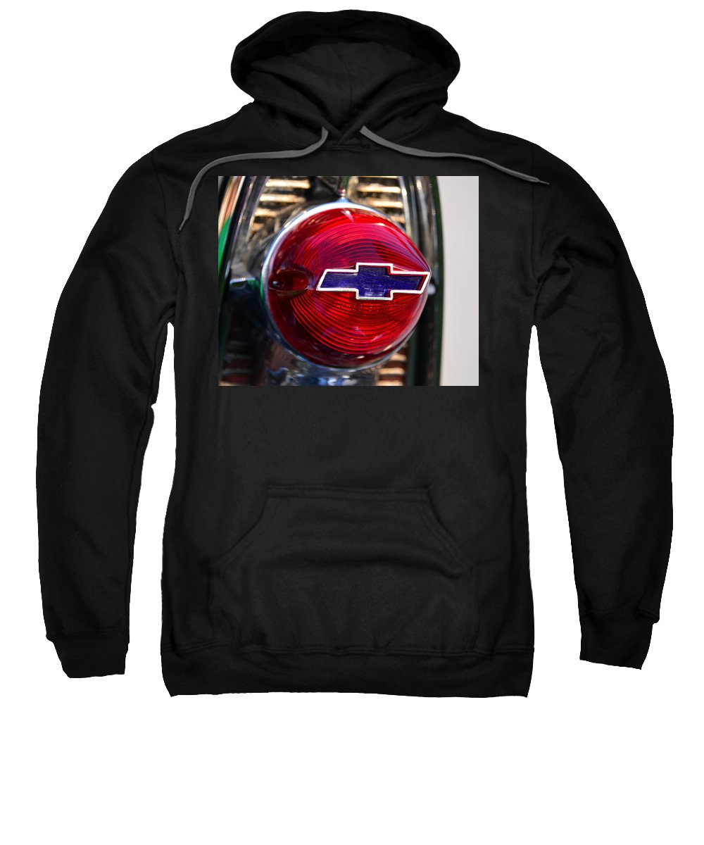 Chevy Emblem Sweatshirt featuring the photograph Chevy Red White And Blue by David Lee Thompson