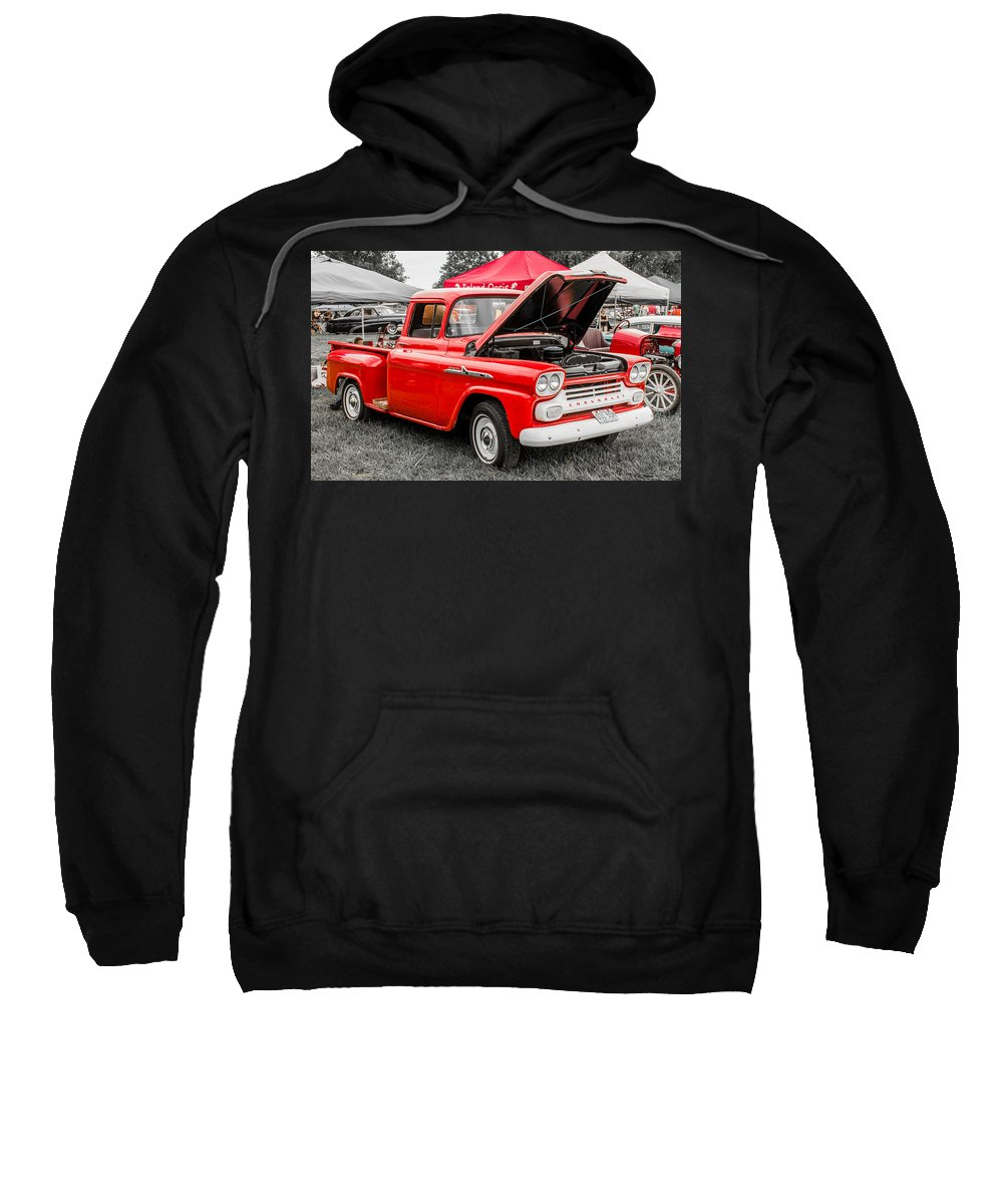 Hot Rod Sweatshirt featuring the photograph Chevy Stock by Ken Kobe