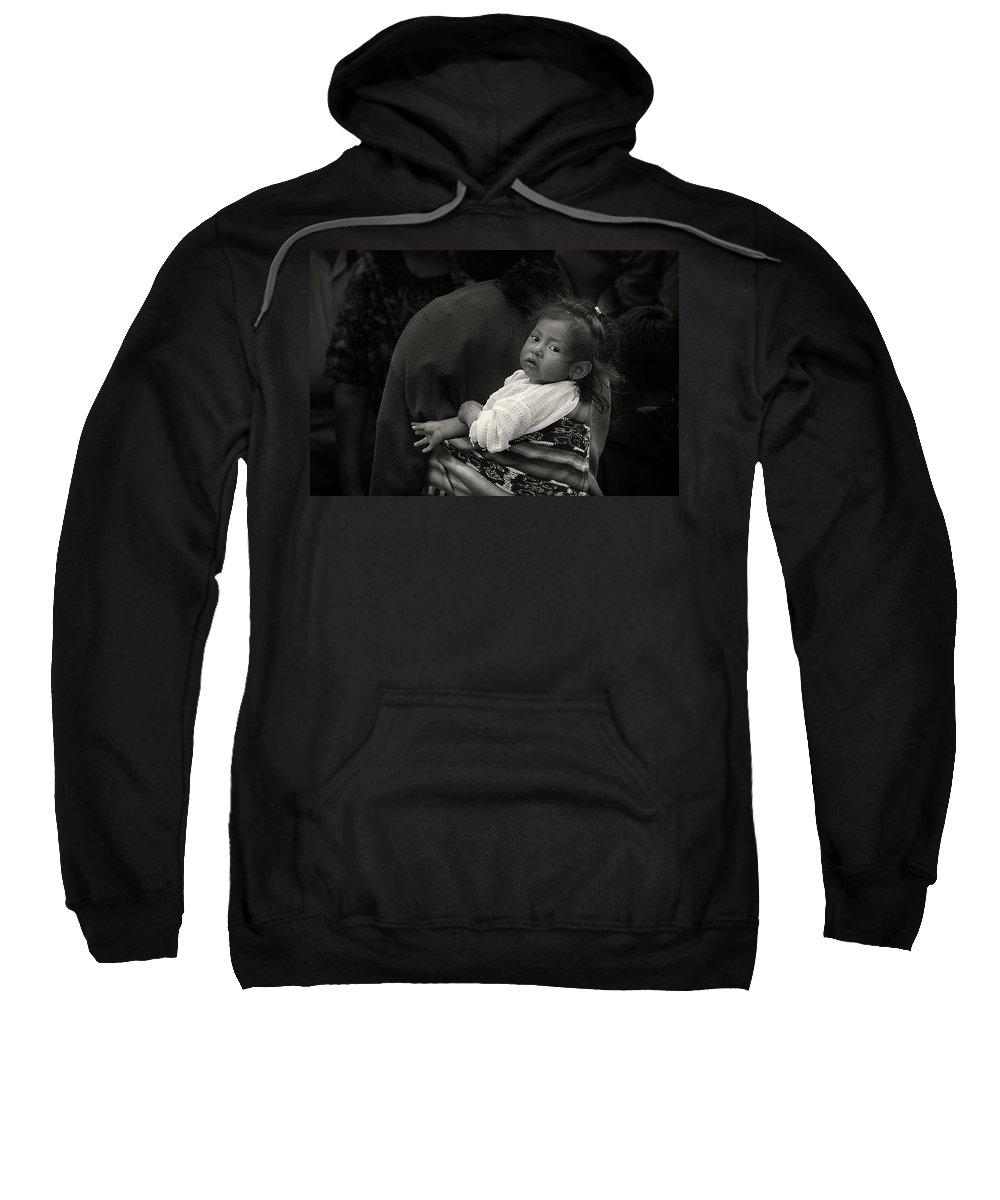 Chichicastenango Sweatshirt featuring the photograph Child Of Chichicastenango by Tom Bell