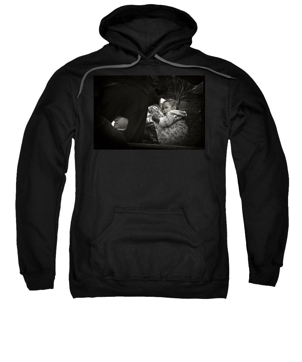 Child Sweatshirt featuring the photograph Child On A Journey by Tom Bell