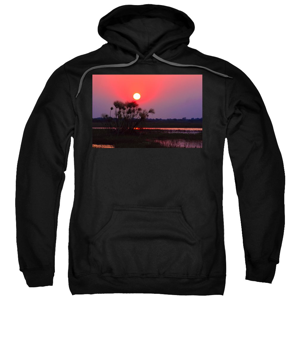 Chobe River Sweatshirt featuring the photograph Chobe River Sunset by Amanda Stadther