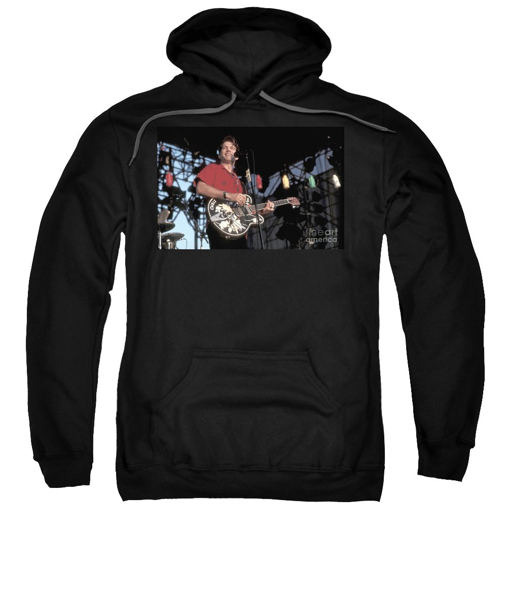 Songwriter Sweatshirt featuring the photograph Chris Isaak by Concert Photos