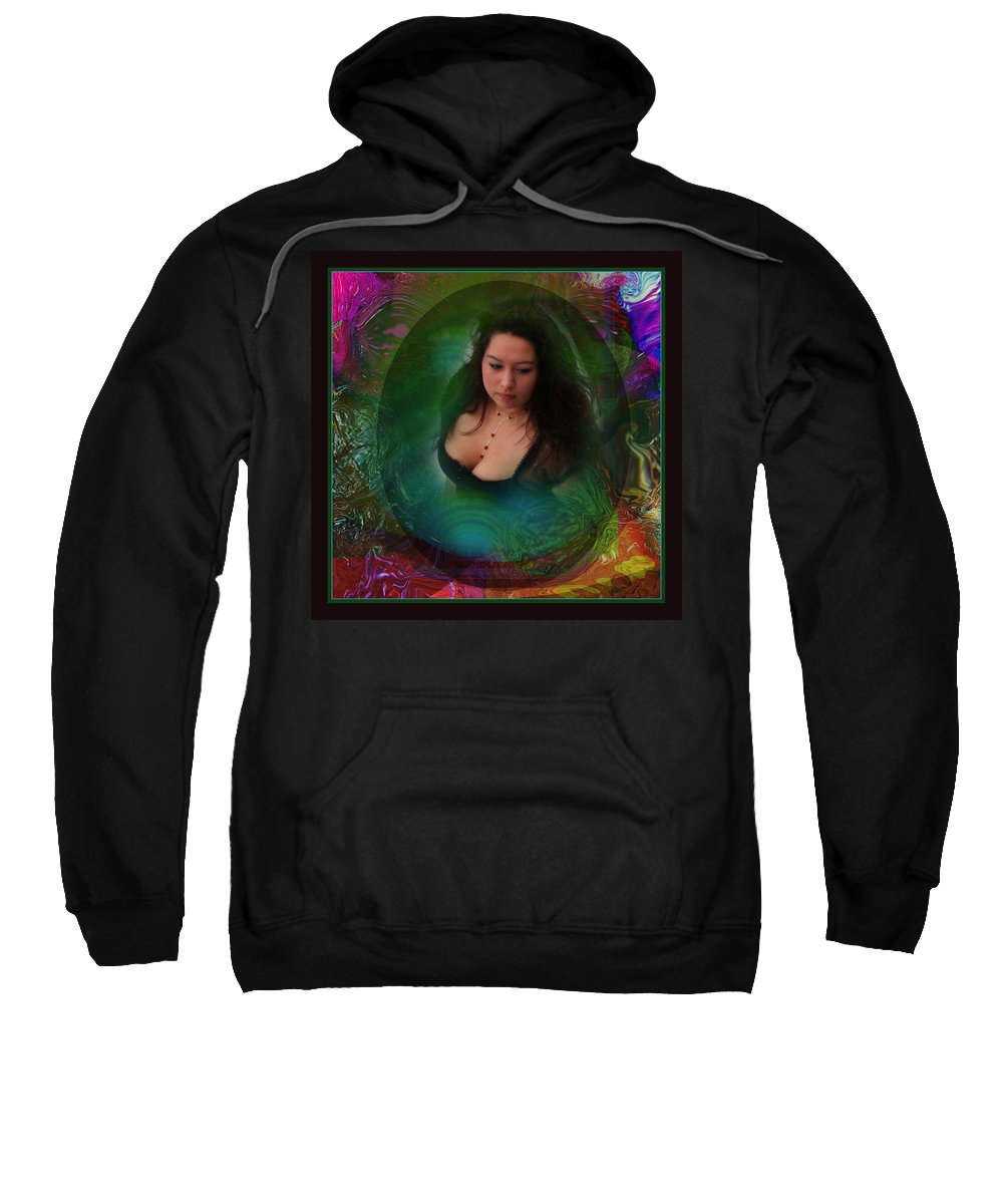 Semi-abstract Sweatshirt featuring the digital art Christan I by Otto Rapp