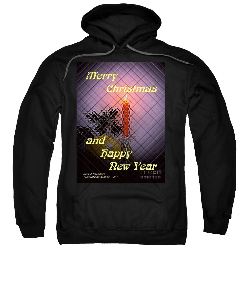 Modern Sweatshirt featuring the painting Christmas Cards And Artwork Christmas Wishes 95 by Gert J Rheeders
