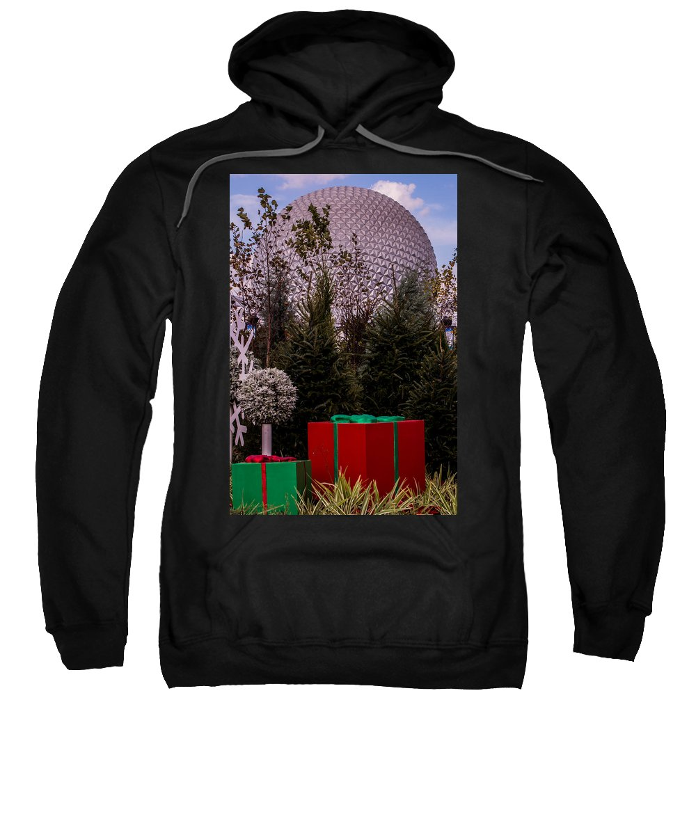 Christmas Sweatshirt featuring the photograph Christmas Gifts From Disney by Zina Stromberg