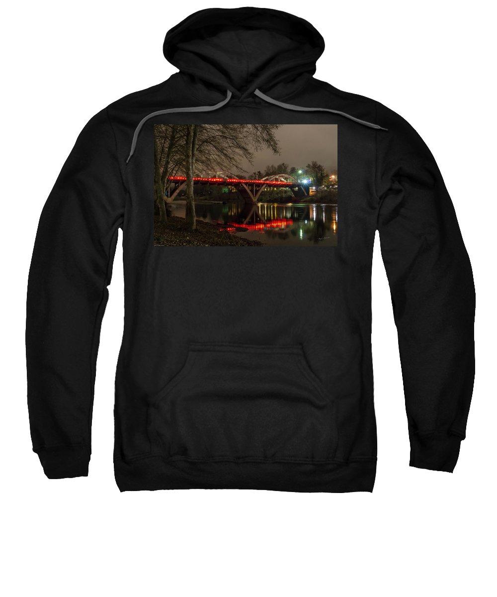Caveman Bridge Sweatshirt featuring the photograph Christmas On Caveman Bridge by Mick Anderson