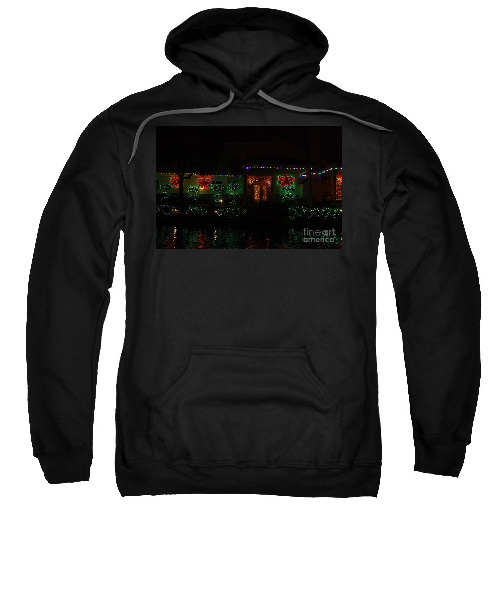 East Lake Sweatshirt featuring the photograph Christmas On East Lake 3 by Tommy Anderson