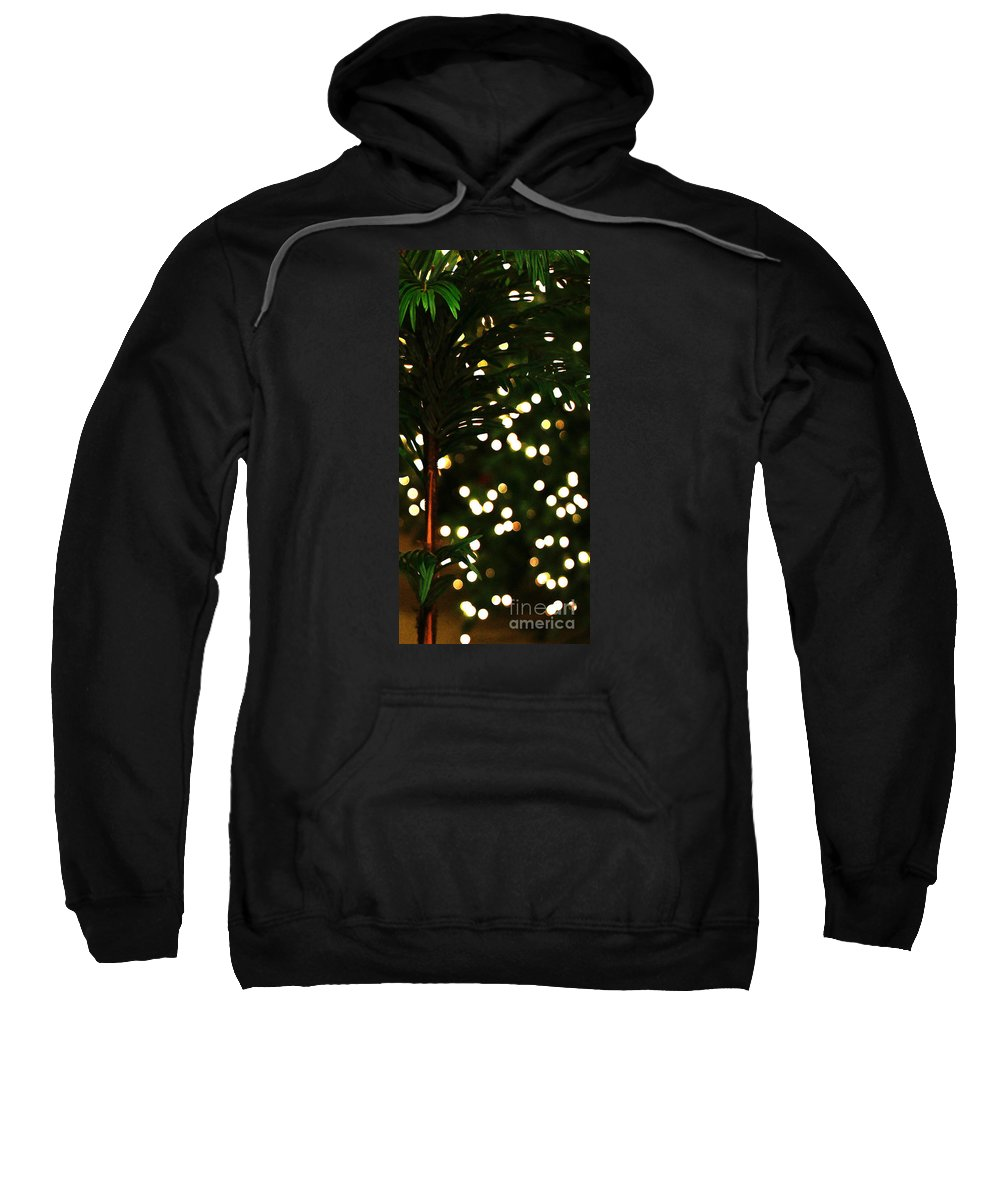 Christmas Sweatshirt featuring the photograph Christmas Palm by Linda Shafer
