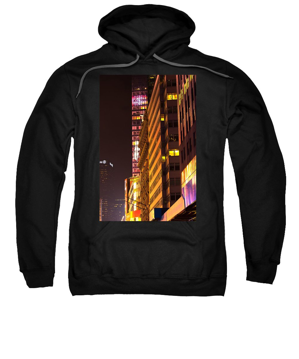 """""""new York City"""" Sweatshirt featuring the photograph City Glow by Paul Mangold"""