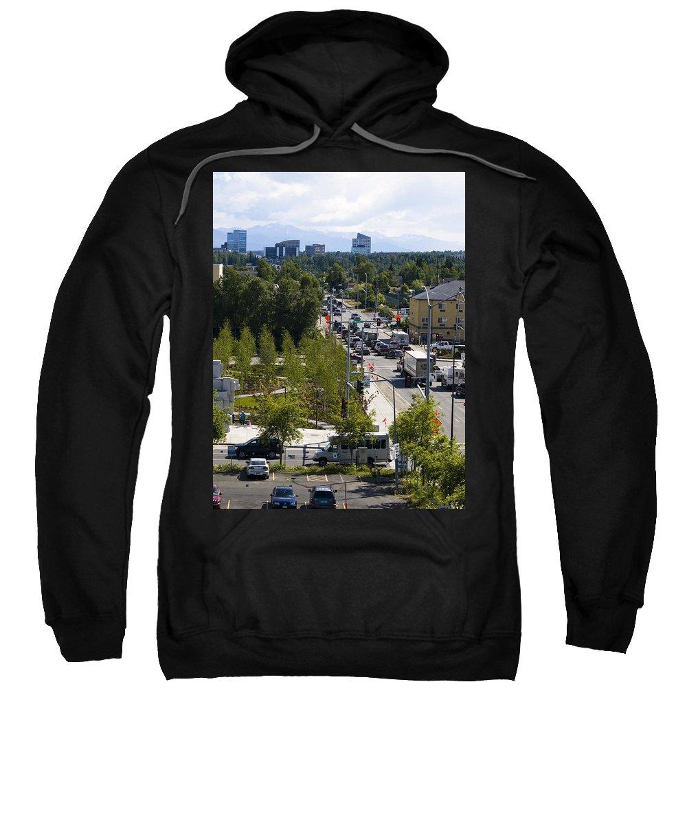 City Sweatshirt featuring the photograph City Life 1 by Tara Lynn