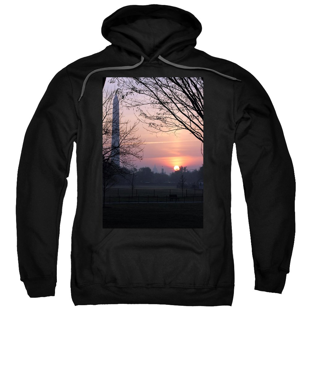 Washington Dc Sweatshirt featuring the photograph City Rising by Carolyn Stagger Cokley
