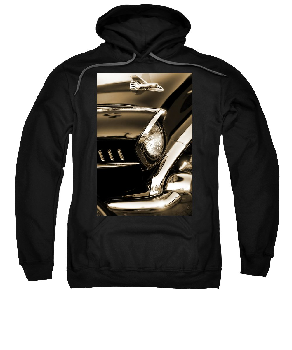 Black Sweatshirt featuring the photograph Classic '57 Chevy Bel Air In Sepia by Gordon Dean II