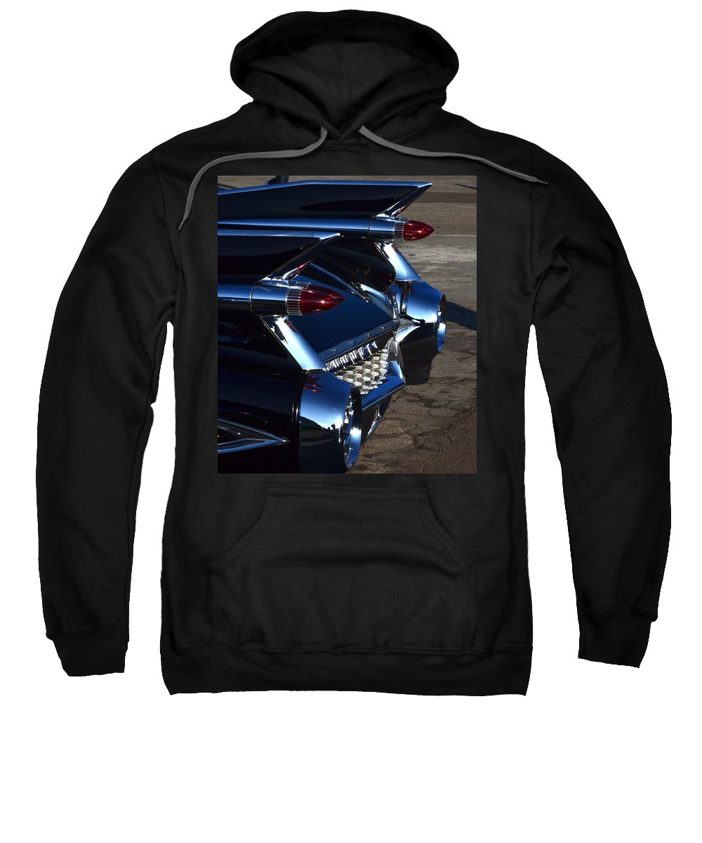 Sweatshirt featuring the photograph Classic Black Cadillac by Dean Ferreira