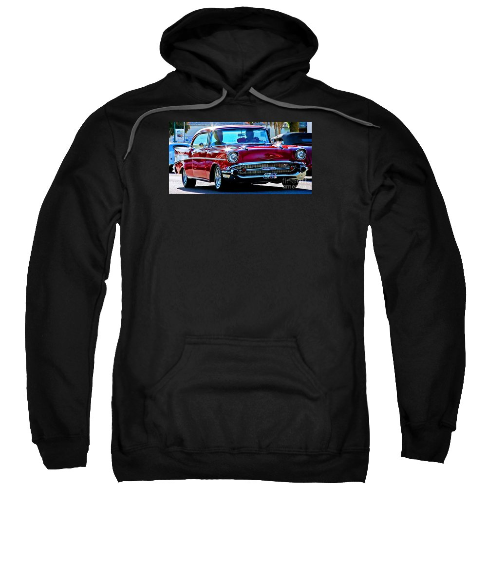 Cars Sweatshirt featuring the photograph Classic Chevrolet by Tap On Photo