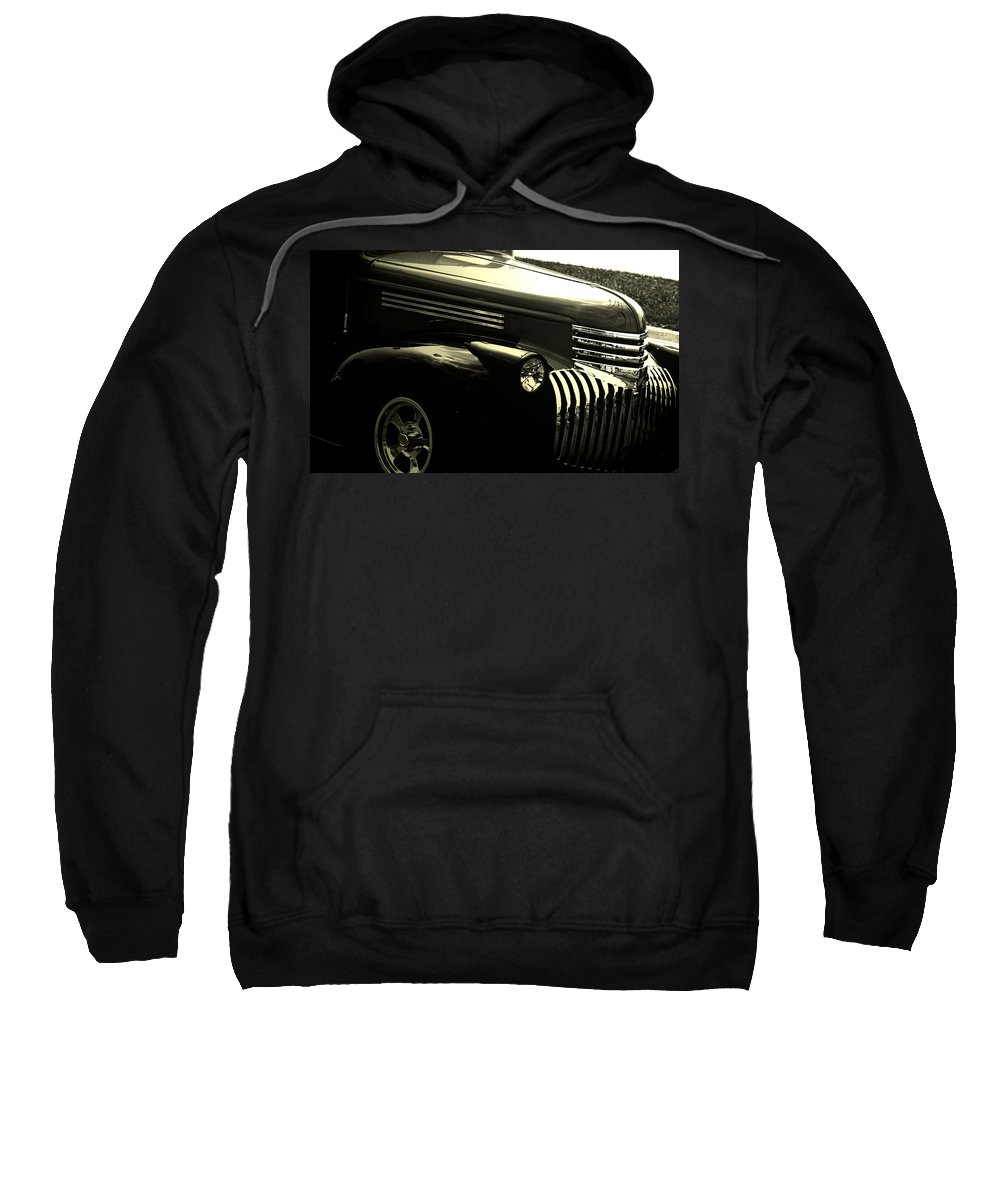 Woodward Dream Cruise Sweatshirt featuring the photograph Classic Chevrolet by Optical Playground By MP Ray