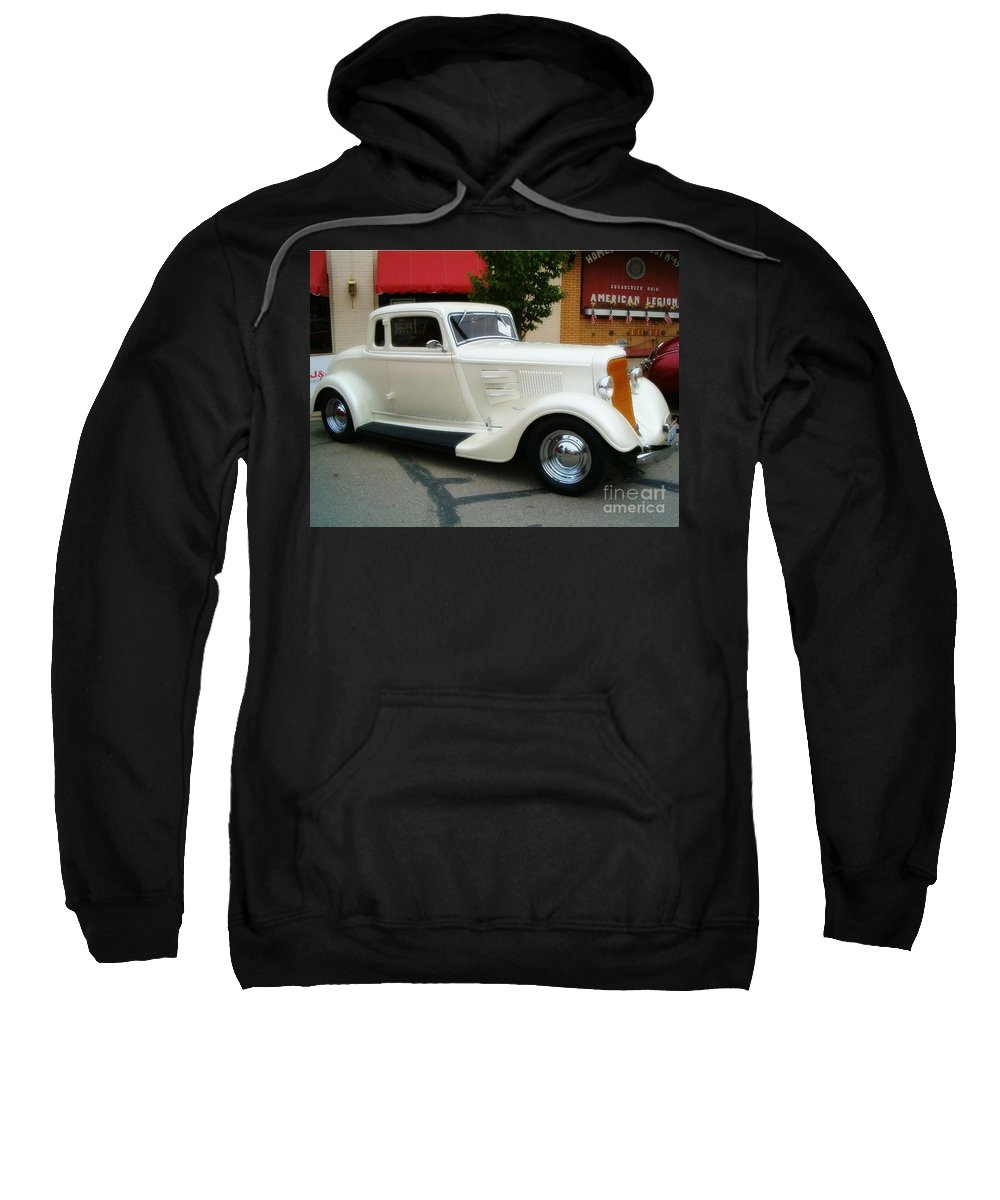 Classic Cars Sweatshirt featuring the photograph Classic White by Sara Raber