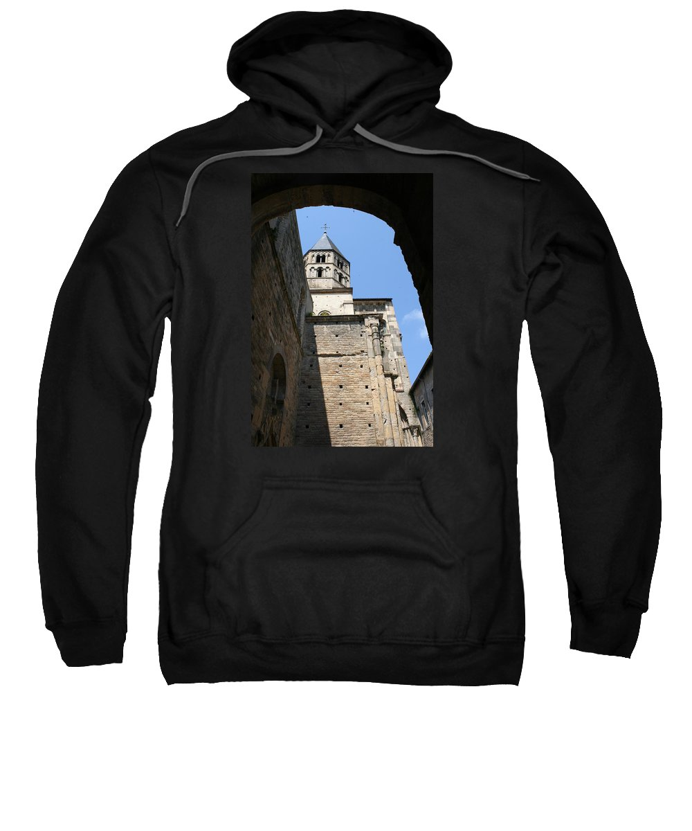 Cloister Sweatshirt featuring the photograph Cloister Cluny Church Steeple by Christiane Schulze Art And Photography
