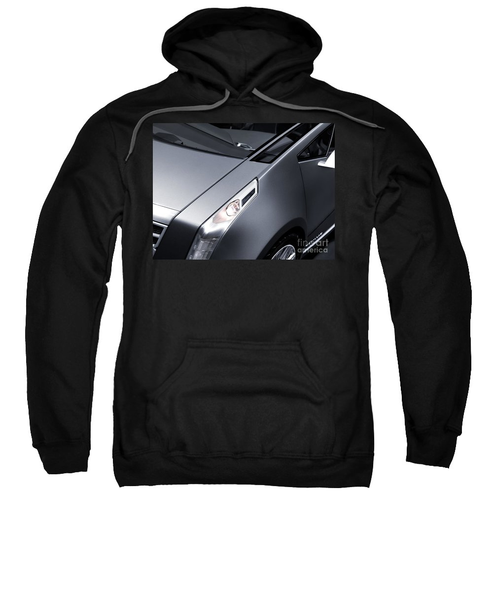 Car Sweatshirt featuring the photograph Close Up Of Cadillac Ulc Urban Luxury Car by Oleksiy Maksymenko