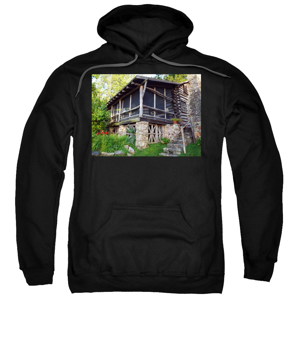 Cabins Sweatshirt featuring the photograph Closer View Of The Cabin by Robert Margetts