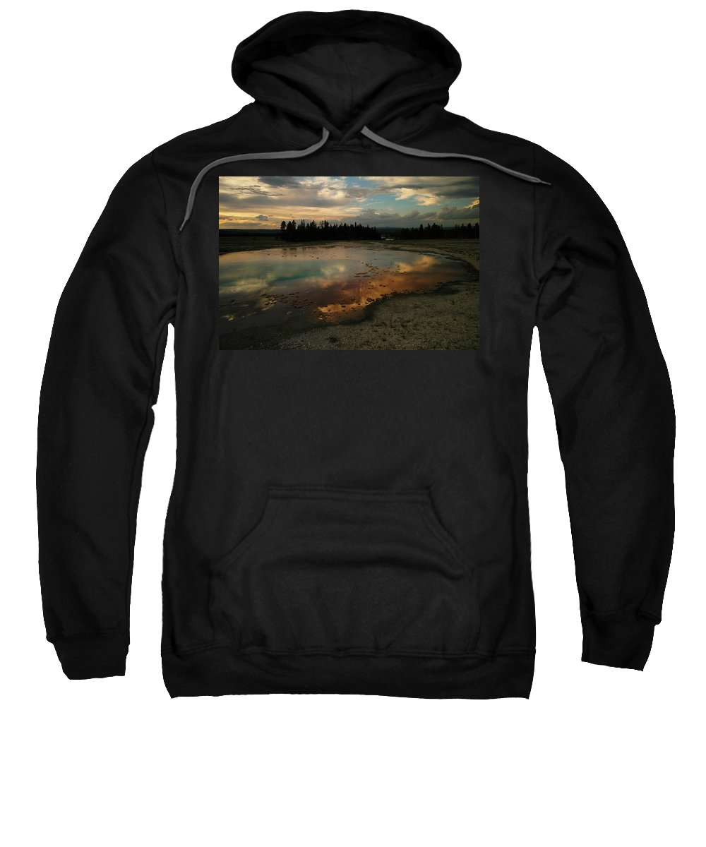 Reflections. Lakes Sweatshirt featuring the photograph Clouds In The Water by Jeff Swan