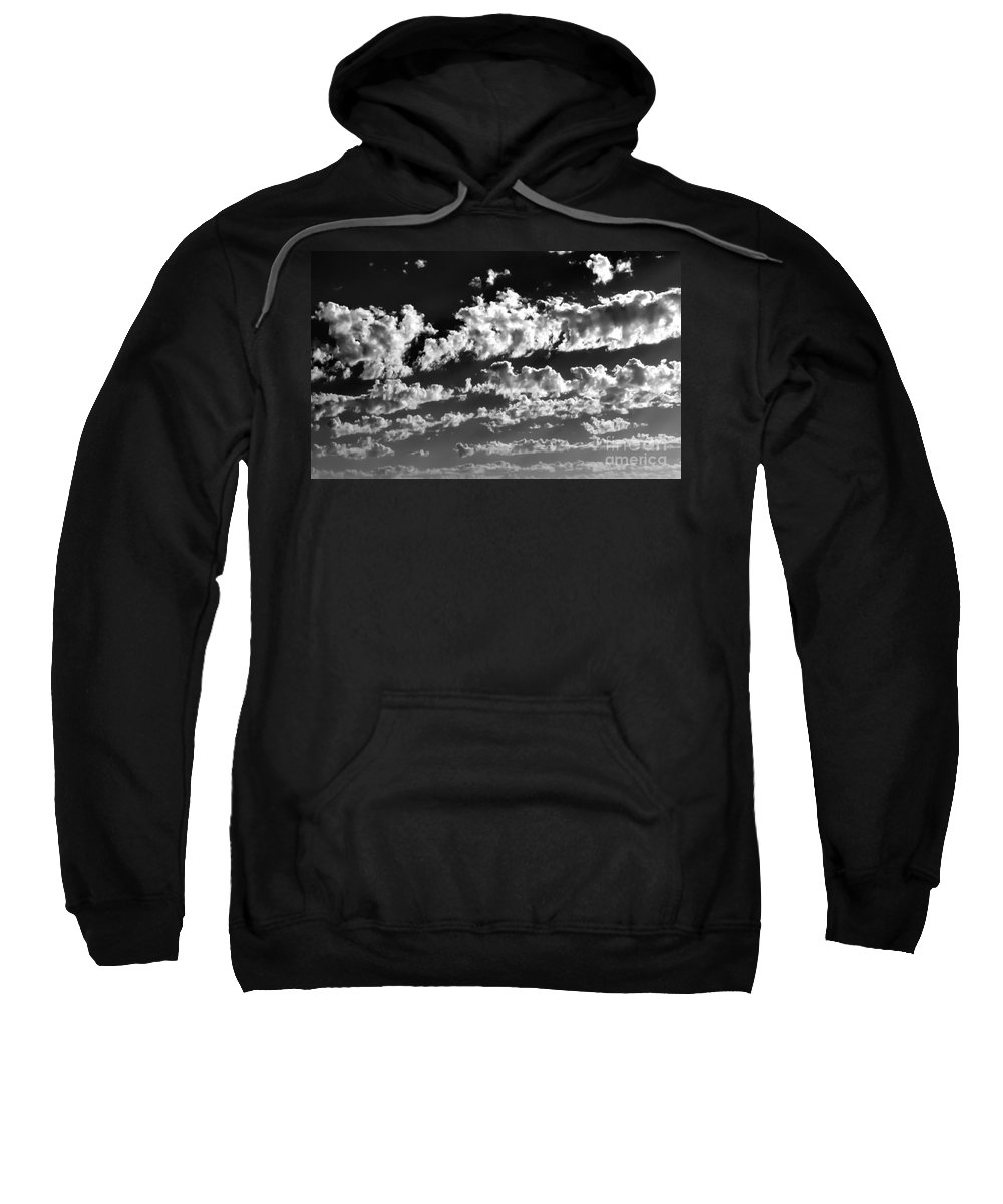 Black And White Photo Sweatshirt featuring the digital art Clouds Of Freycinet Bw by Tim Richards